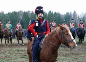 Реконструкция сражения на реке Березина Отечественной войны 1812-го года