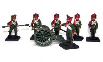 Гвардейская пешая артиллерия. Россия, 1812 год
