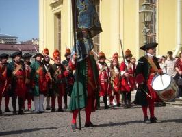 Флигель-рота участник 300-летия Полтавской битвы