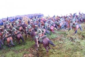 Фрагмент макета эпизода Бородинской битвы. Станислав Касатиков